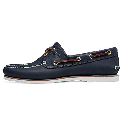 Timberland Classic 2 Eye, Men's Boat Shoes Blue (MD Full Blue Grain) 8 UK