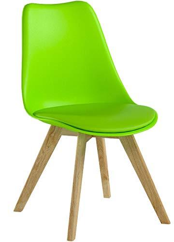 WOLTU BH29gn-2 2 x Esszimmerstühle 2er Set Esszimmerstuhl Design Stuhl Küchenstuhl Holz, Grün
