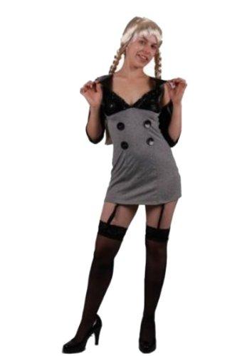 Heiße Lehrerin Kleid mit Strumpfbandhalter GoGo Outfit Domina -