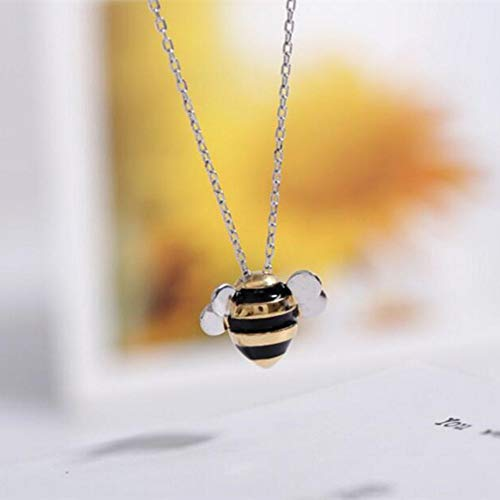 TLLAMG Halskette 925 Sterling Silber Schmuck Großhandel Korean Fashion Cute Bee Exquisite Weibliche Persönlichkeit Anhänger Halskette