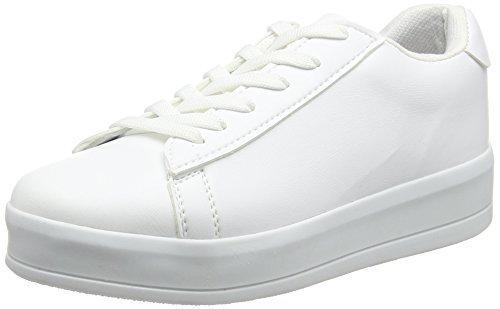 New Look Meight, Baskets Femme Blanc (White)