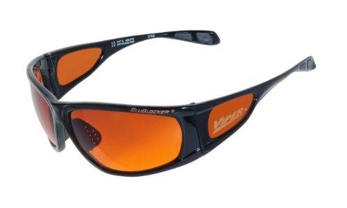 BluBlocker Offizielle Viper-Sonnenbrille Schwarz Groß