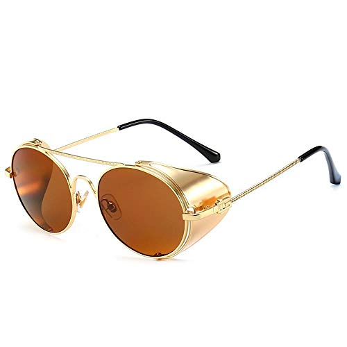 ZHANGNING0706 SonnenbrillenSunglasses Steampunk Style Handmade Side Shield Men's Sunglasses Goggles, D