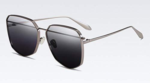 Gold Herren Metall Sonnenbrille Für Männer Sommeraccessoires Uv400 Sonnenbrille Für Frauen Pink SchwarzGun Silber Rahmen ()