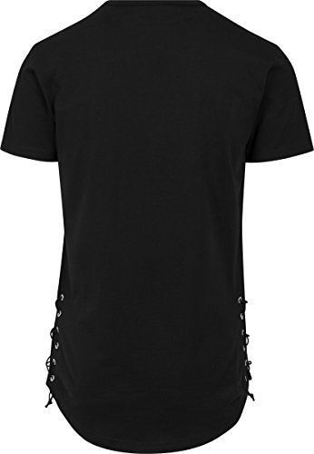 Urban Classics Herren T-Shirt Lace Up Long Tee Black
