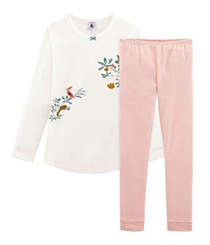 Petit Bateau Mädchen Zweiteiliger Schlafanzug Pyjama_4689301 Mehrfarbig (Marshmallow/Multico 01) 140