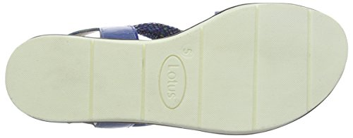 Lotus Aello, Sandales Bride cheville femme Blue (blue Multi)