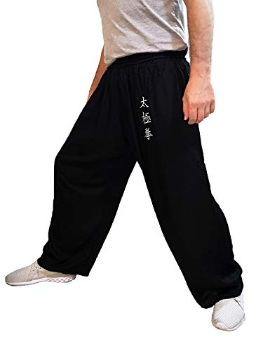 TAO Sportswear Tai Chi Hosen weites Bein Männer Frauen Kinder Yoga Hosen Qigong Offen an den Knöcheln