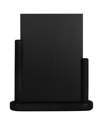 Securit - Lavagnetta da tavolo per menu, elegante, finitura laccata, 15 x 21cm, colore: nero