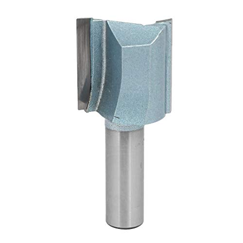 ZCHXD 1-1/8-Inch Dia Carbide Double Flute Straight Router Bit with 1-3/16-Inch Length 1/2-Inch Shank -