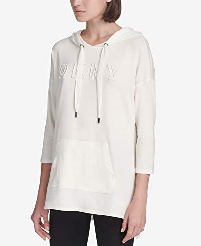 DKNY Womens Sport Dolman-Sleeve Logo Hoodie Tunic Color Linen Size -