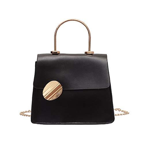 3 Colori Borse a Tracolla da Donna Elegante Borse a Spalla Piccolo Borse a Mano di PU Pelle Tote Bag Portafoglio Messenger Bag per Ragazza - Nero,Verde,Giallo