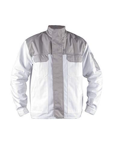 TMG® Giacca da Lavoro per Imbianchino - Uomo - Leggera e Resistente - Bianco XL