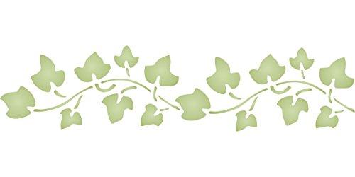 Ivy Schablone, wiederverwendbar, Leaf Bordüre Laub Wand–Vorlage, auf Papier Projekte Scrapbook Tagebuch Wände Böden Stoff Möbel Glas...