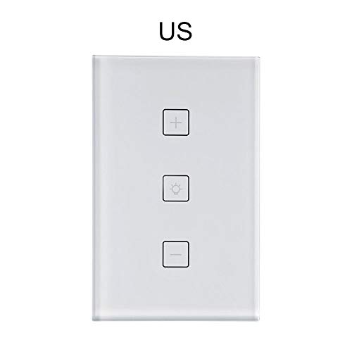 mbition Smart WiFi Light Switch Dimming Panel Switch Home Intelligent Voice Control Connected to Alexa & Google US 1