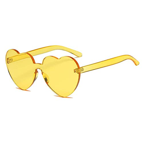WERERT Sportbrille Sonnenbrillen Fashion Cute Sexy Retro Love Heart Rimless Sunglasses Women Luxury Designer Sun Glasses Eyewear UV400