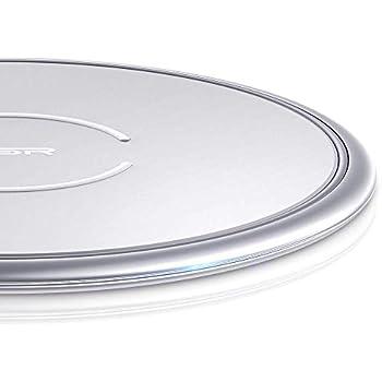 ESR Chargeur sans Fil à Induction Qi [Cadre Métal] Compatible avec iPhone 11/11 Pro/11 Pro Max