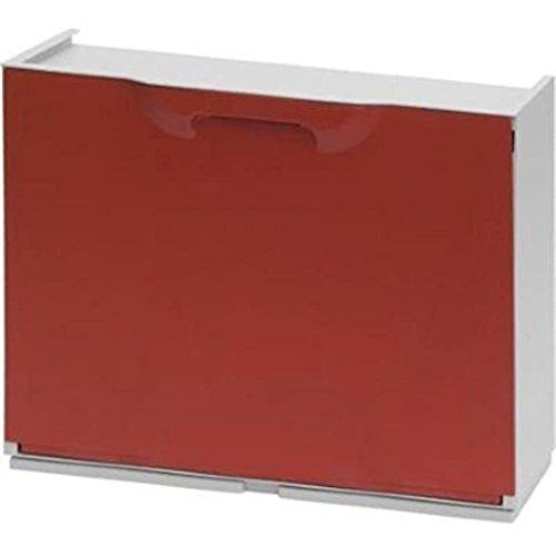 Art Plast U50/1R Schuhregal aus Kunststoff, Rot/Weiß