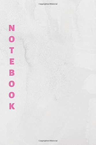 Notebook: White & Pink Lined Notebook & Journal for Writing (110 pages, College Ruled, 6 x 9 inches, Matte, Colorful Cover) || Classic Notebooks