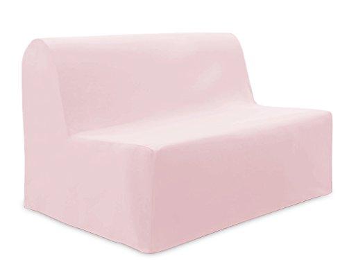 Bezug für Sofabett aus Baumwolle Panama Rosa