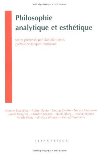 Philosophie Analytique Et Esthetique (Collection D'Esthetique) par From Klincksieck