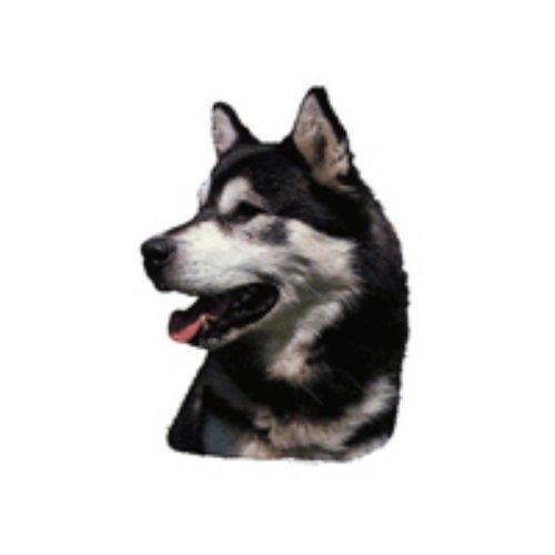 Preisvergleich Produktbild World Stickers Schwandt Heimtierbedarf 13168 Aufkleber 2 Stück ca. 140 x 160 mm für Warnschild Alaskan Malamute