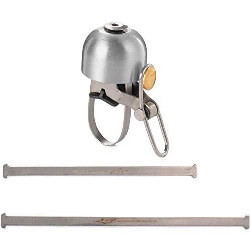 ROCKBROS Radsport Fahrrad Handklingel Fahrradklingel Horn Retro Bell (Silber) - 2