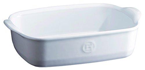Emile Henry Eh119649 Plat à Four Individuel Céramique Blanc Farine
