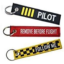 Pilot 's Bundle, 3x Llavero Incluye llavero, remove Before Flight, Follow Me & Pilot
