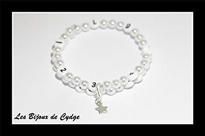 Bracelet d'allaitement de couleur blanc en acrylique