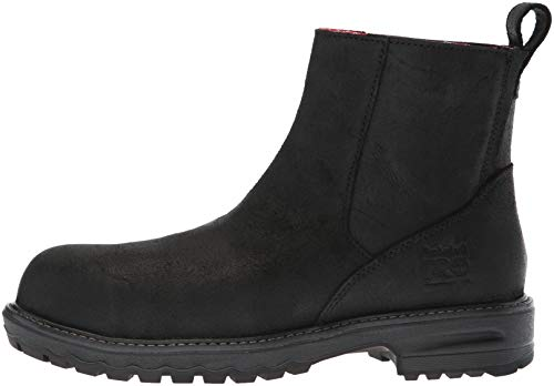 Timberland PRO Women s Hightower Chelsea Composite Toe SD  Industrial Boot  Black Distressed Leather  10 M US