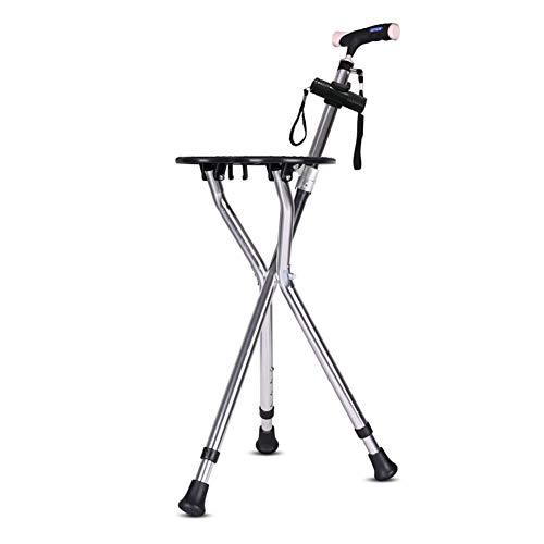SXFYMWY Walking Stick Sitz Klapphocker Leicht Aluminiumlegierung Höhenverstellbar multifunktionale Non-Slip Cane