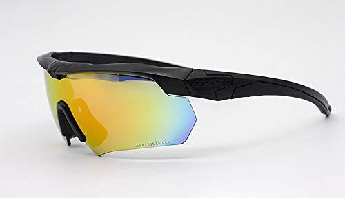 JUSTDOIT Sport-Sonnenbrille mit Wechselobjektiven für Männer und Frauen. UV400 Blendschutzgläser für Cricket, Laufen, Skifahren, Radfahren, Fahren usw,Black