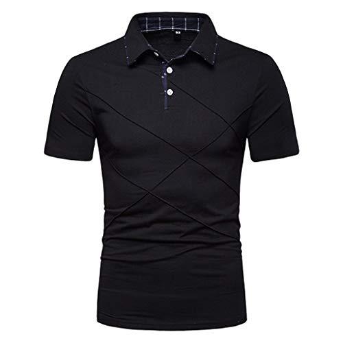 Preisvergleich Produktbild Luckycat Herren Tshirt Poloshirt Kurzarm Polohemd Regular Fit Männer Shirt Sommer Herren Poloshirt Kurzarm Einfarbig Sommer T-Shirt Men's Polo Shirt