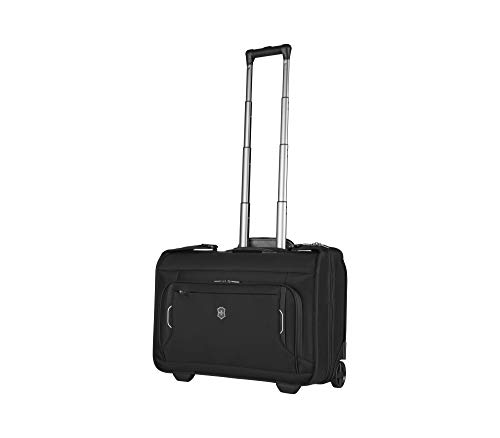 Victorinox Werks Traveler 6.0 Kleiderhülle mit 2 Rollen - Kleidersack Handgepäck Trolley 25x55x41 - Schwarz
