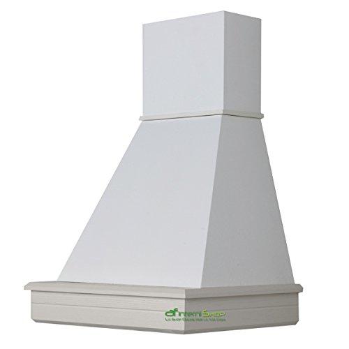 Cappa cocina pared de madera 60 rústica mod.Stock-fresno blanco-cono color blanco