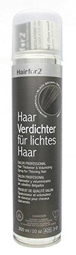 Hairfor2 Haarverdichtungsspray schwarzbraun, 1er Pack (1 x 300 g)
