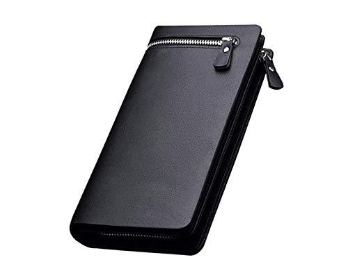 Lorna Imported Women Designer Long Zipper Wallet Black/Brown