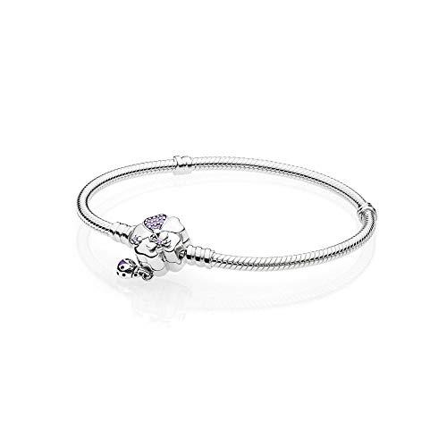 Pandora Damen-Charm-Armbänder 925 Sterlingsilber zirkonia 597124NLC-20 (Blumen Pandora Charms)