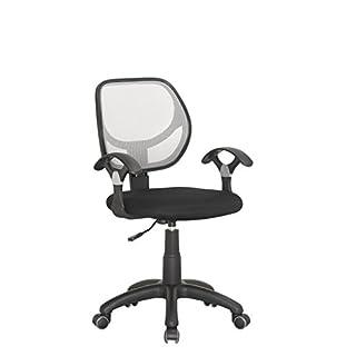 Meubletmoi Fauteuil de Bureau – Chaise Confortable et pivotante Hauteur réglable - Dossier Blanc – qualité Professionnelle - Netty