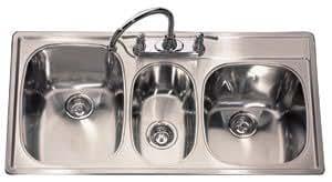 kindred t2243 95k 4e kitchen sink   3 bowl  amazon co uk  diy  u0026 tools  rh   amazon co uk