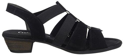 Gabor Shoes 62.472, Sandali Comfort Donna Negro