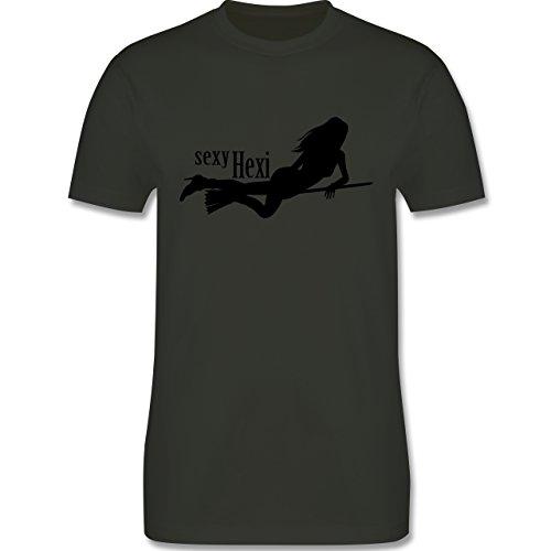 Halloween - sexy Hexy - Herren Premium T-Shirt Army Grün
