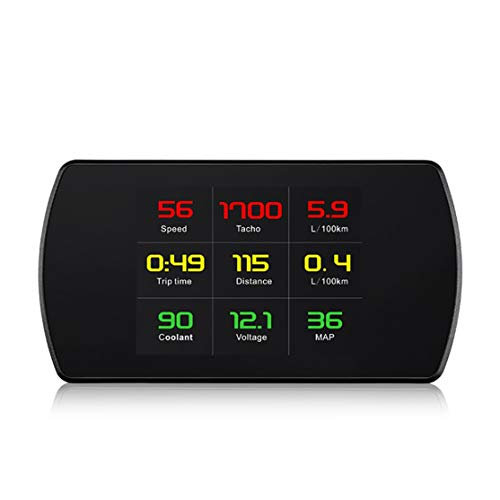 LouiseEvel215 Ordinateur de Bord OBD Compteur numérique Intelligent Vitesse Tension TPM Consommation de Carburant Compteur HD Heads Up Display HUD de Voitu