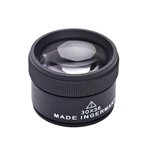 SUPVOX Measuring Optical Magnifier Magnifying Glass Lens Loupe Microscope for Coins Stamps Jewelry 30x 36mm