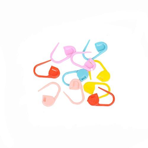 1box (80pcs) Mix Color lavorare a maglia Crochet Blocco Stitch Markers uncinetto ago Clip Sicurezza Pins per pannolini pin su biglietto di