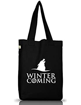 Serien Jutebeutel Stoffbeutel Earth Positive Wolf Winter Is Coming