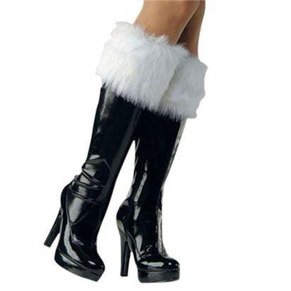 Santa Fur Boot Cuffs - Adult Weihnachtszubehör - One (Passt Weihnachten Hässliche)