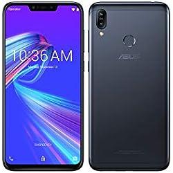 ASUS - , Zenfone Max M2 ZB633KL, Smartphone débloqué, 3 Go (6,3 Pouces, 32Go, Double Nano SIM + MicroSD, Android 8.1) Noir
