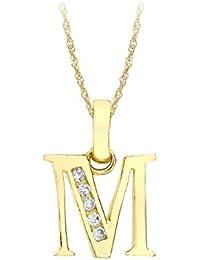 Carissima Gold - Collar de oro de 9 quilates, con circonitas